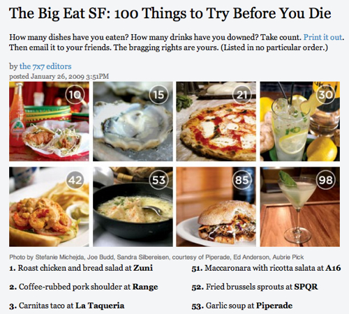 100 Things to Try Before You Die