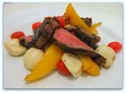 Sonoma Steaks with Vegetable Bocconcini