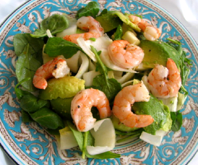 Arugala and Endive Salad with Shrimp