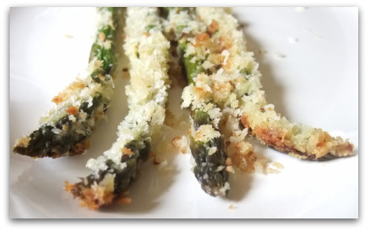 Roasted Asparagus with Green Garlic & Panko