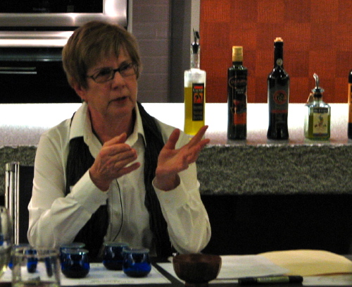 Fran Gage, olive oil tasting