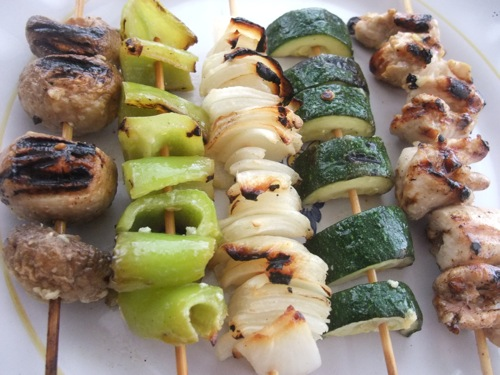 Chicken Vegetable Kebabs