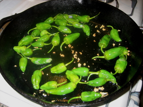 Peppers in a pan