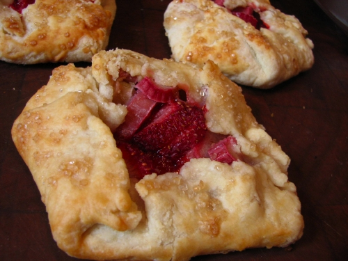 Mini Rhubarb Strawberry Galettes