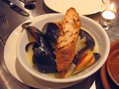 Mussels with Cinzano