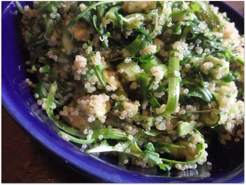 Quinoa Salad with Arugula, Asparagus and Avocado