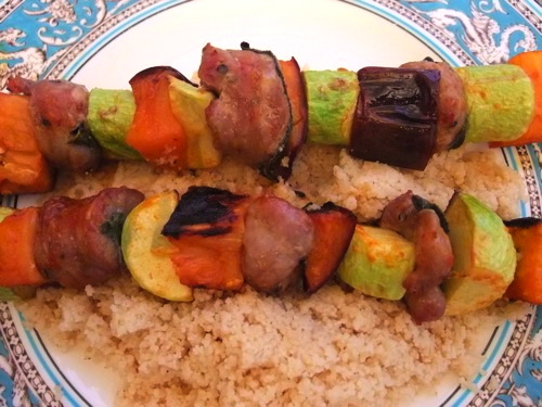 Sausage &amp; Vegetable Kebabs