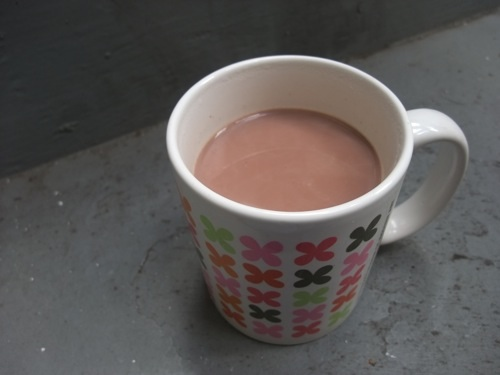 Tea infused hot cocoa