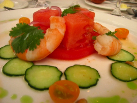 watermelon shrimp salad